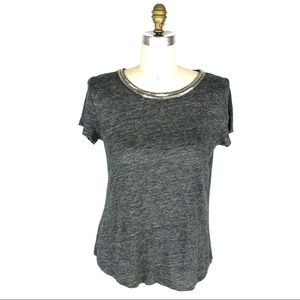 Generation Love Gray Sequins Trim Top Crossover